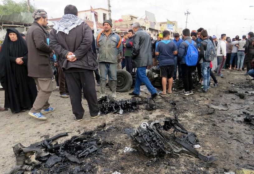 Miejsce zamachu w Bagdadzie /EPA/ALI ABBA /PAP/EPA