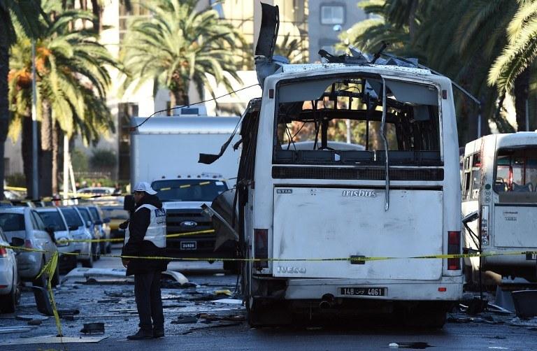 Miejsce zamachu /AFP