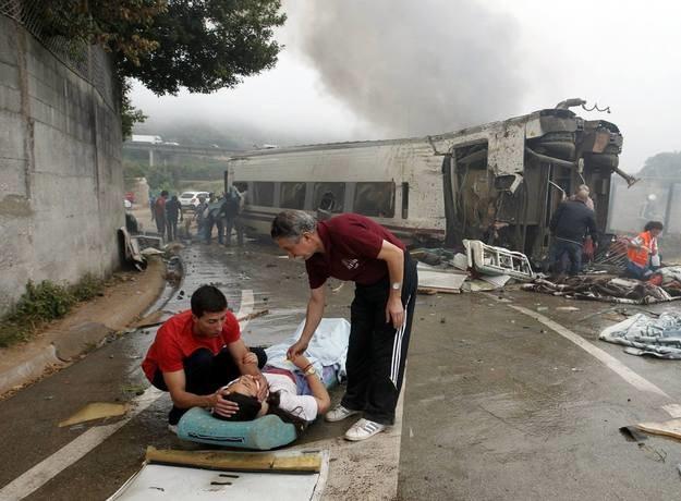 Miejsce zdarzenia zaraz po katastrofie /AFP