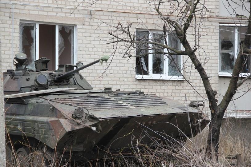 Miejscowość Pisky, okolice Doniecka /Voloshyn Vladislav/Ukrafoto /East News