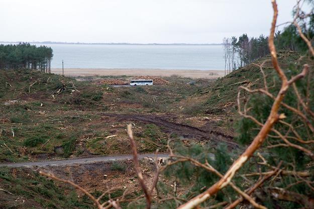 Mierzeja Wiślana, miejscowość Nowy Świat - budowa przekopu. Fot. Wojciech Stróżyk /Reporter