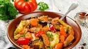 Mięsne leczo z bakłażanem i cukinią