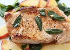 Mięso z sosem cebulowo-jabłkowym