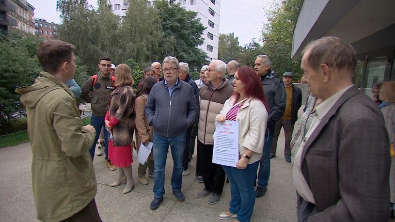 Mieszkańcy bloków przy pl. Grunwaldzkim we Wrocławiu /Interwencja  /Polsat