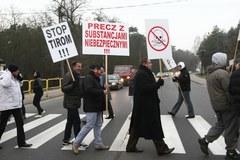 Mieszkańcy Słupna zablokowali drogę