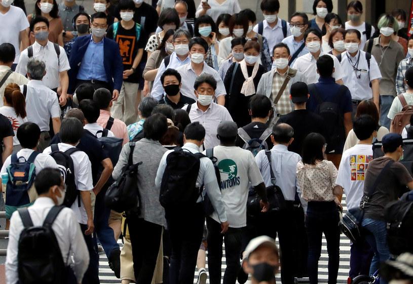 Mieszkańcy Tokio w dobie pandemii, zdj. ilustracyjne /ISSEI KATO/Reuters /Agencja FORUM