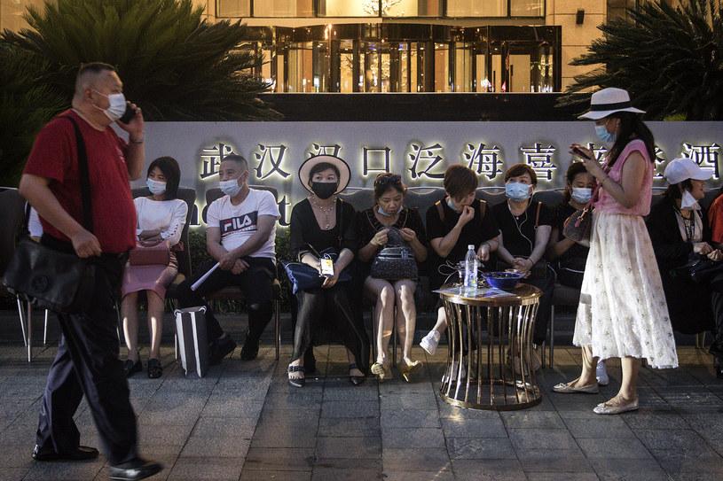 Mieszkańcy Wuhanu /Getty Images