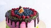 Miętowo-malinowy tort