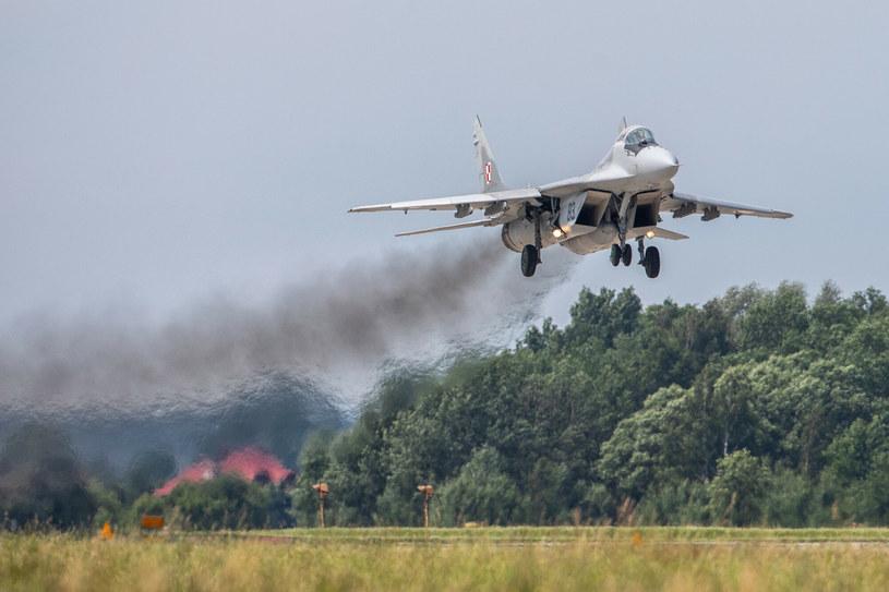 MiG-29 z 23. Bazy Lotnictwa Taktycznego w Mińsku Mazowieckim /Michał Adamowski /Reporter