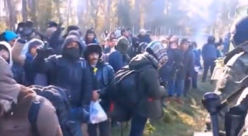 Migranci forsują granicę polsko-białoruską /Straż Graniczna /Twitter