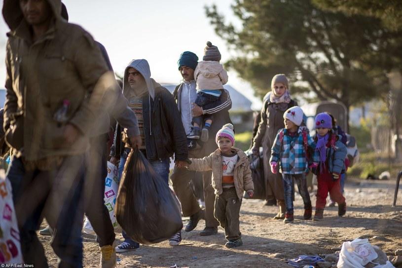Migranci i uchodźcy na grecko-macedońskiej granicy /Robert Atanasovski /East News
