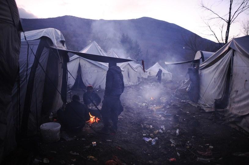 Migranci na granicy Chorwacji z Bośnią i Hercegowiną /Mustafa Ozturk/Anadolu Agency /Getty Images