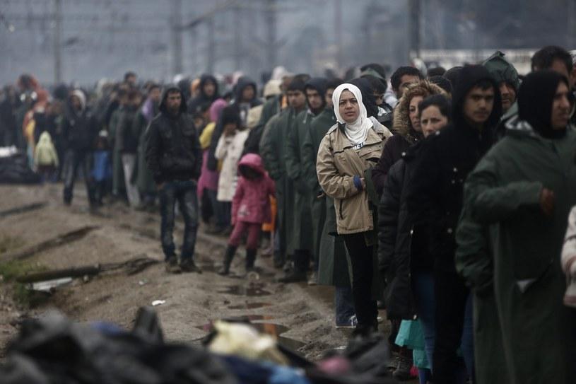 Migranci na granicy grecko-macedońskiej /YANNIS KOLESIDIS /PAP/EPA