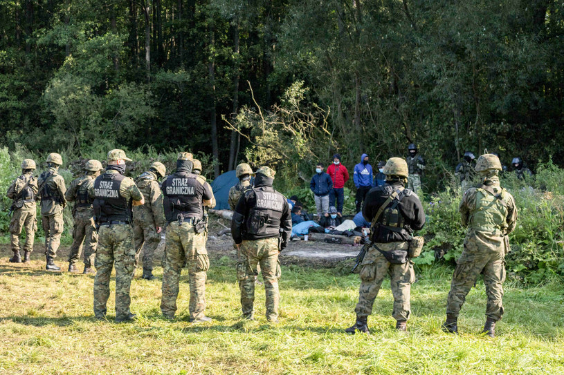 Migranci na granicy polsko-białoruskiej /Maciej Kaczmarski /Reporter