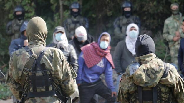 Migranci na granicy /Jakub Rutka /RMF FM