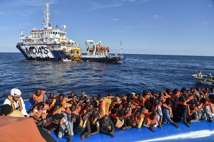 Migranci na Morzu Śródziemnym /ANDREAS SOLARO /AFP