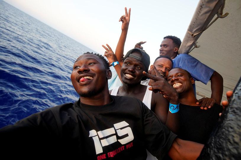 Migranci na Morzu Śródziemnym /REUTERS/Juan Medina /Agencja FORUM