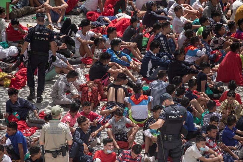 Migranci w Ceucie /BRAIS LORENZO /PAP/EPA