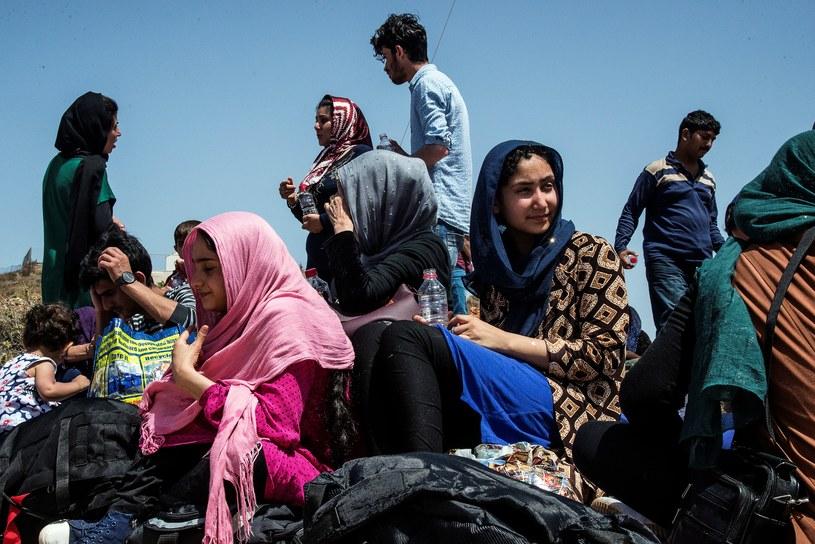 Migranci w Grecji /AFP