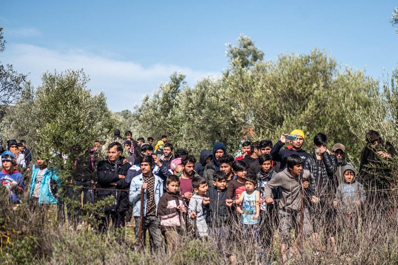 Migranci w Grecji /Joris van Gennip /Agencja FORUM