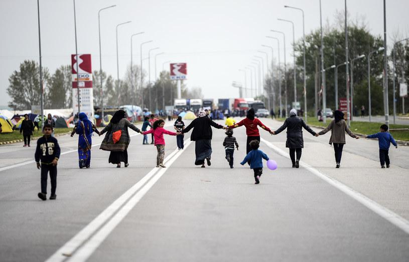 Migranci w proteście przeciw zamykaniu granic, zdj. ilustracyjne /AFP
