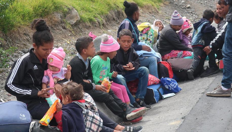 Migranci z Wenezueli /Elias L. Benaroch /PAP/EPA