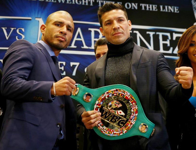 Miguel Cotto (z lewej) i Sergio Martinez /AFP