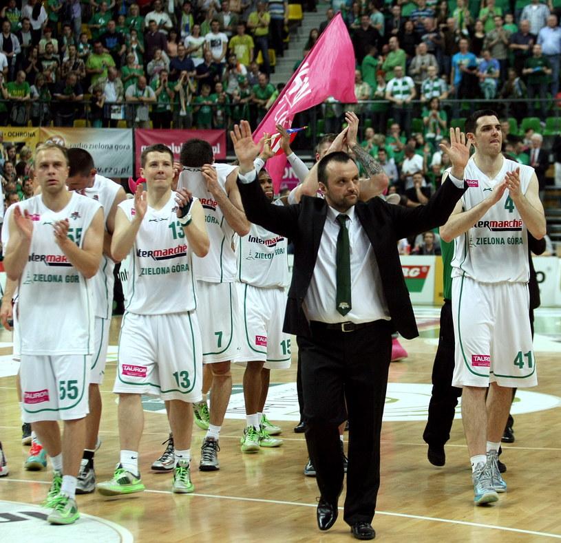 Mihailo Uvalin, trener Stelmetu Zielona Góra /Lech Muszyński /PAP