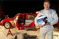 Mika Hakkinen i jego Mitsubishi Lancer WRC2 /INTERIA.PL