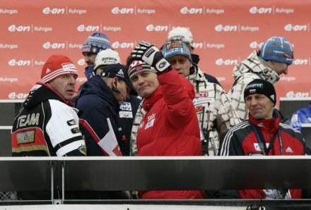 Mika Kojonkoski (w środku). /AFP
