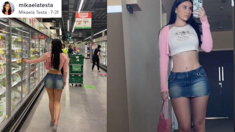 Mikaela Testa mieszka w australijskim mieście Gold Coast. Twierdzi, że gdy tylko pojawia się w tamtejszych supermarketach,  inni tracą kontrolę /tiktok.com/@mikaelatesta /TikTok