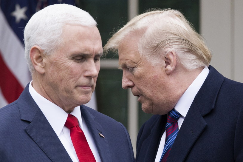 Mike Pence i Donald Trump na zdjęciu z 2019 roku /MICHAEL REYNOLDS    /PAP/EPA
