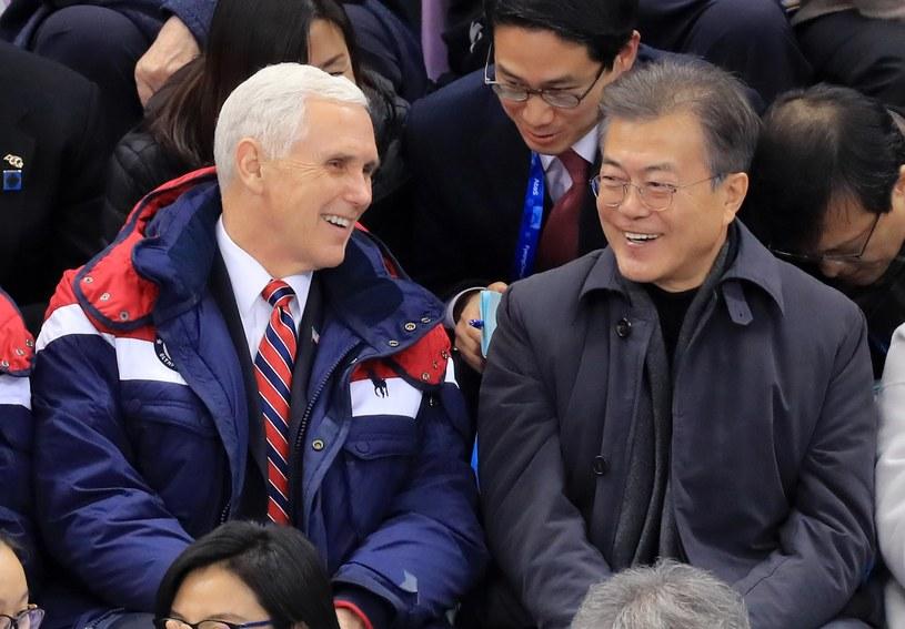 Mike Pence i Mun Dze In /YONHAP   /PAP/EPA