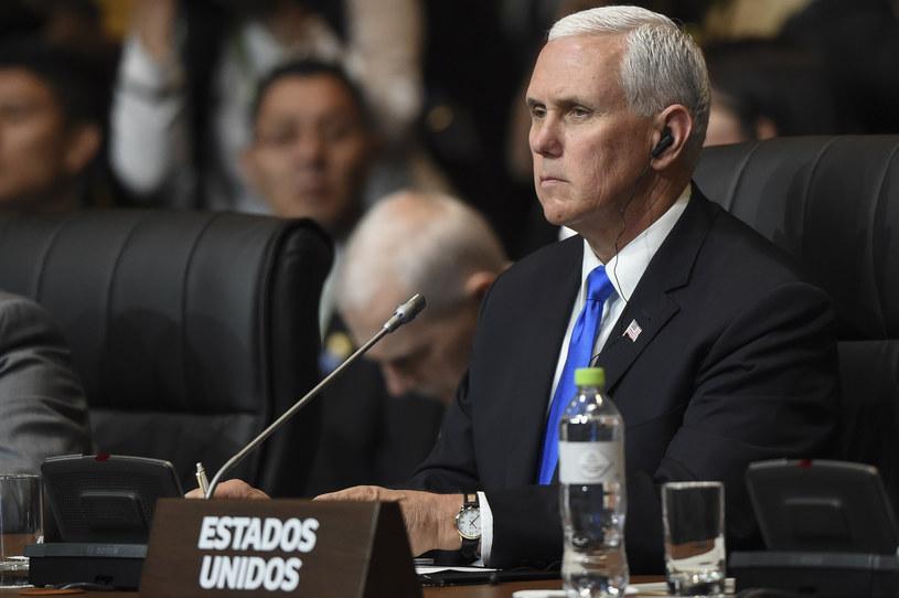 Mike Pence na Szczycie Ameryk /AFP