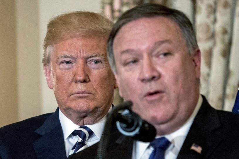 Mike Pompeo i Donald Trump /Associated Press /East News