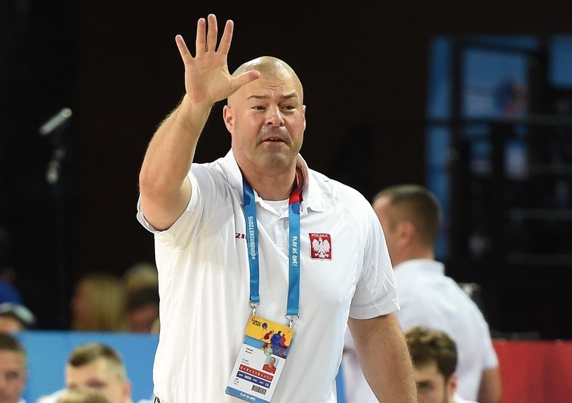 Mike Taylor, trener reprezentacji Polski koszykarzy /AFP