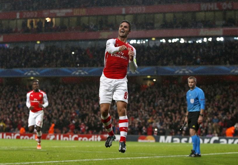 Mikel Arteta cieszy się z gola dla Arsenalu /AFP