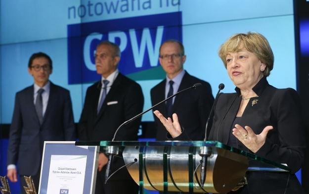 Mikołaj Budzanowski, Zygmunt Solorz, Ludwik Sobolewski, Katarzyna Muszkat - prezes ZE PAK S.A. /PAP