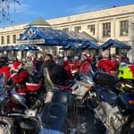 Mikołaje na motorach u małych pacjentów ze szpitala w Prokocimiu