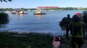 Mikołajki: Śmigłowiec wpadł do jeziora