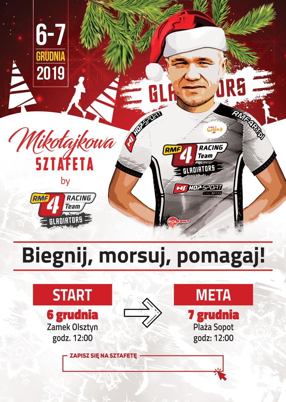 Mikołajkowa sztafeta RMF4RT Gladiators /Materiały prasowe