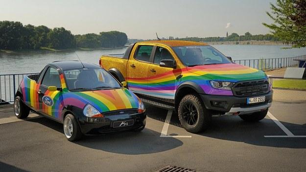 Mikro pick-up Ka z roku 1998 oraz Ranger The Very Gay Raptor /