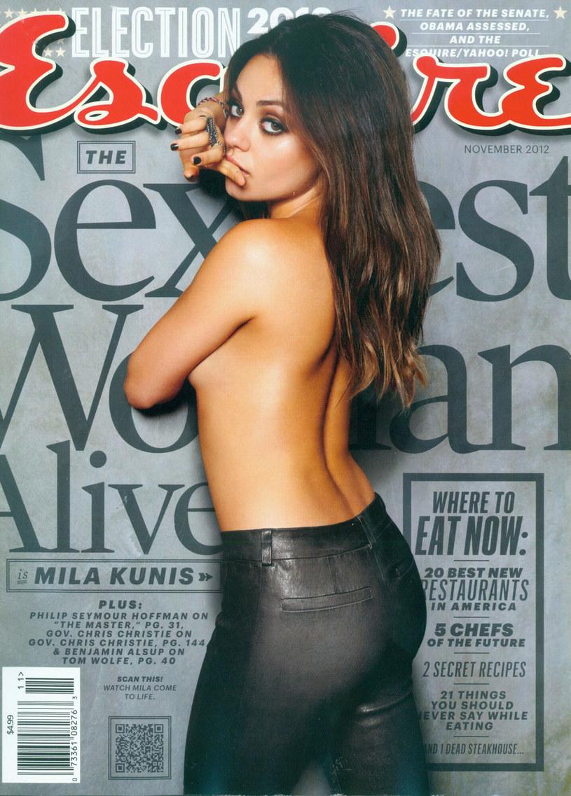 "Mila Kunis na okładce magazynu ""Esquire"" /Splash News/Esquire /East News"
