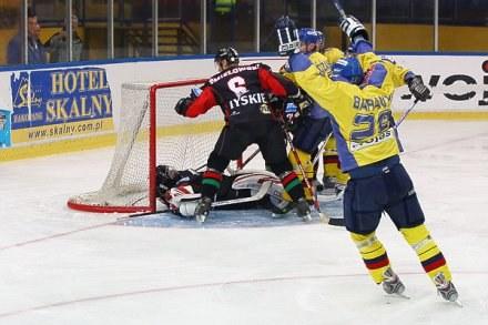 Milan Baranyk cieszy się ze strzelenia gola, fot: Tadeusz Bącal /INTERIA.PL