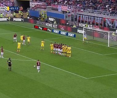 Milan - Frosinone. Piękny gol z wolnego. Świetny strzał Suso. (ZDJĘCIA ELEVEN SPORTS). WIDEO