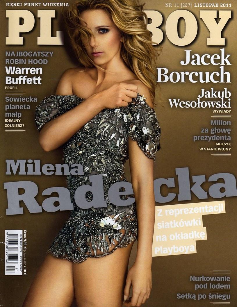 Milena Radecka na okładce Playboya /INTERIA.PL