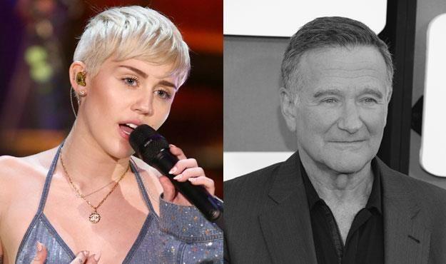 Miley Cyrus (fot. Christopher Polk ) opłakuje śmierć Robina Williamsa (fot. Jason Kempin) /Getty Images