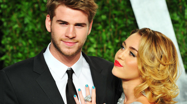 Miley Cyrus i Liam Hemsworth /Alberto E. Rodriguez /Getty Images
