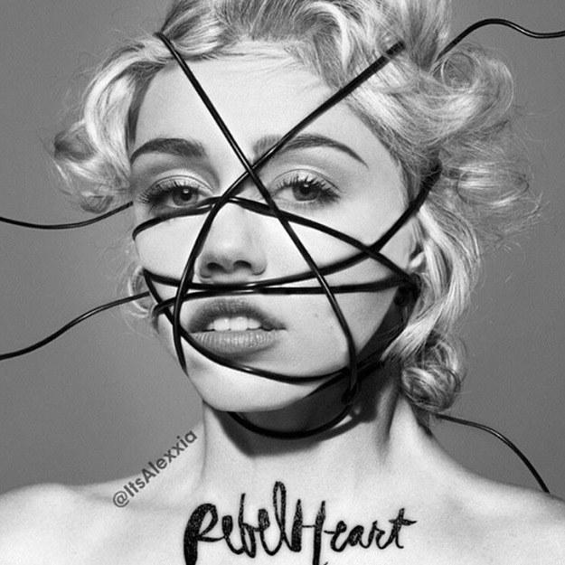 "Miley Cyrus na okładce ""Rebel Heart"" /"