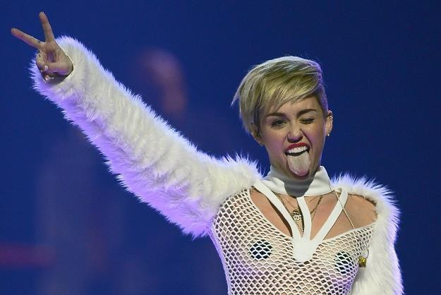 Miley Cyrus podczas koncertu w Las Vegas fot. Ethan Miller /Getty Images/Flash Press Media